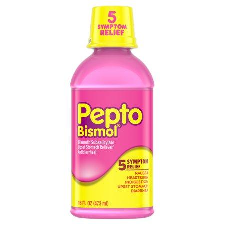 Pepto Bismol Líquido para las náuseas ardor de estómago indigestión malestar estomacal y diarrea Alivio sabor original 16 oz