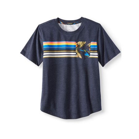 (Short Sleeve Fashion Stripe Crew Neck Tee Shirt (Little Boys & Big Boys))