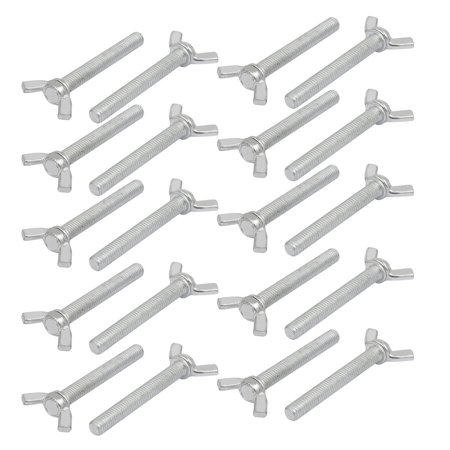 M8x60mm Grade 4.8 Carbon Steel Wing Bolt Butterfly Screw 20pcs - image 1 of 1