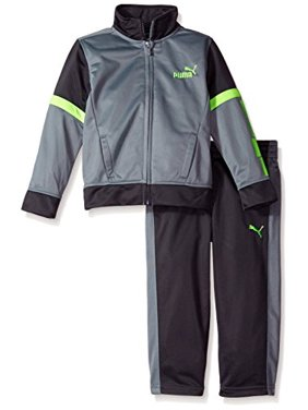 PUMA Boys' Tricot Jacket and Pant Set,Gray,2T