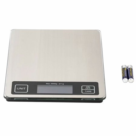 Akoyovwerve SF-660A Digital Kitchen Scale for Food with Grams Ounces and Pounds 22*17cm Platform 10kg/1g Touch Screen Stainless Steel Countertop ()