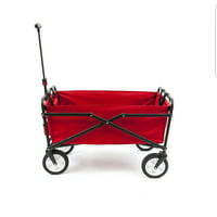 Seina Heavy Duty Compact Folding 150 Pound Capacity Outdoor Utility Cart, Red