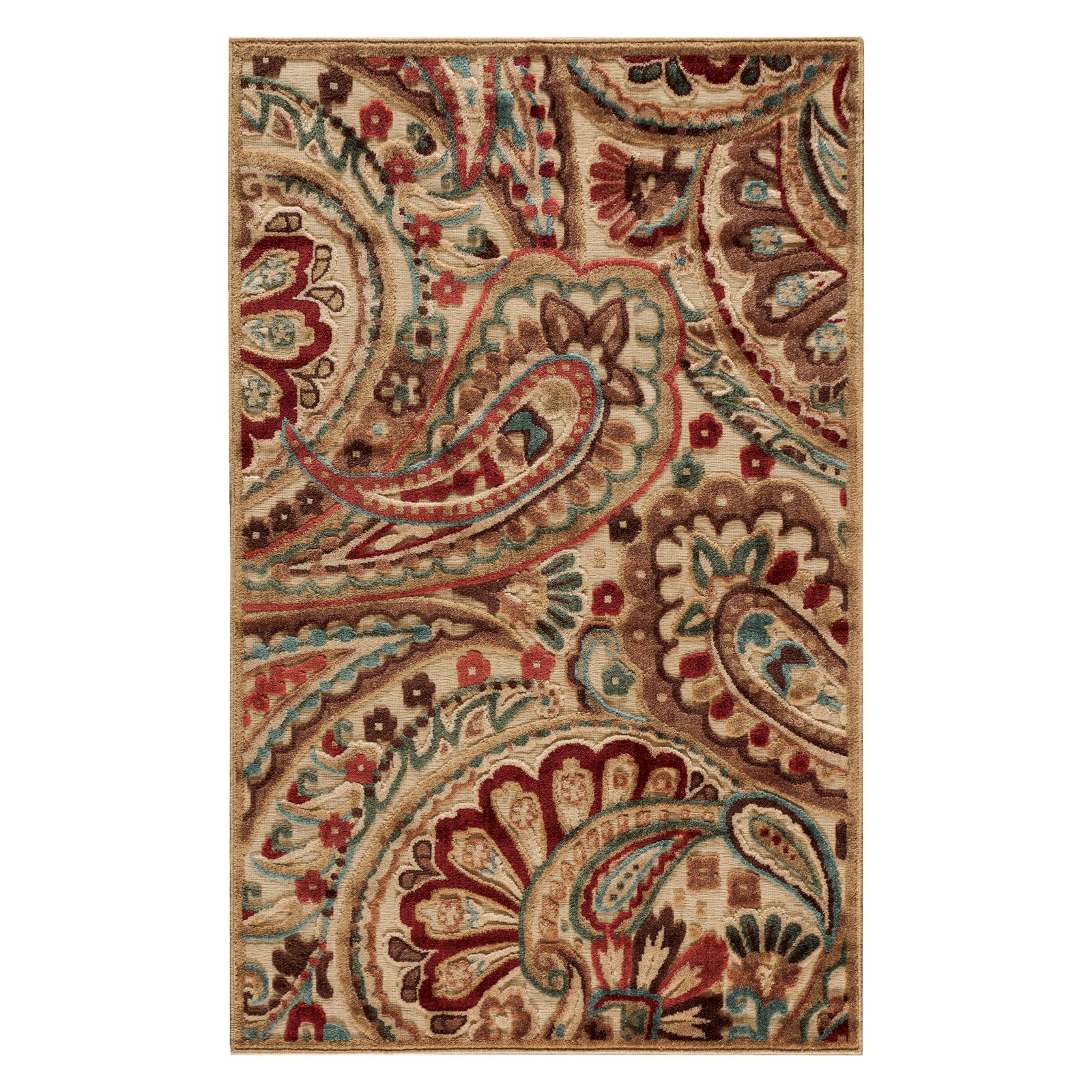 Nourison Graphic Illusions Polyacrylic Paisley Rug