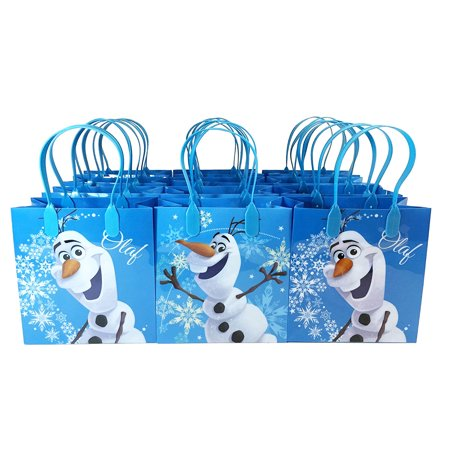 Disney Frozen Olaf 12 Blue party Favors Small Goodie Gift Bags 6