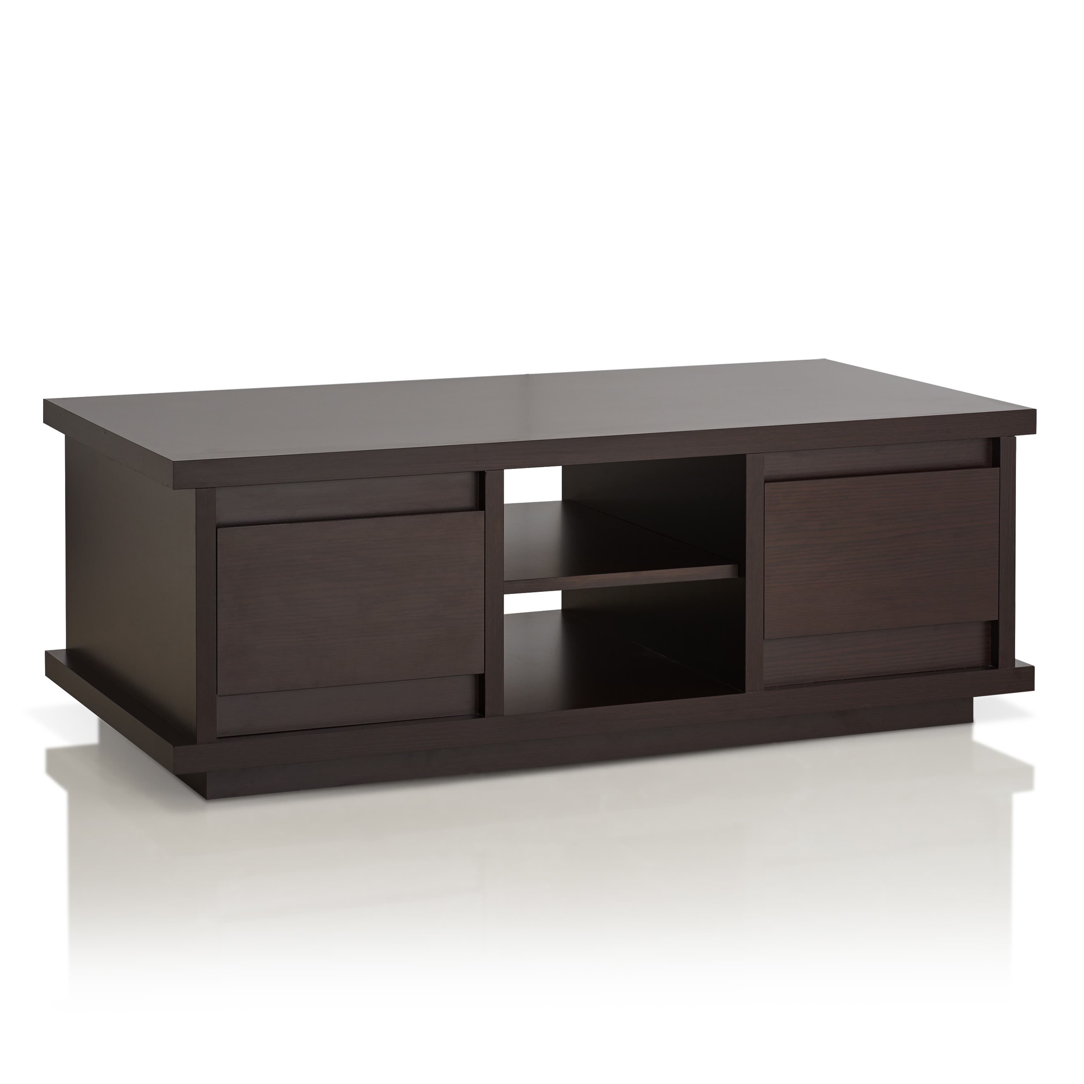 Furniture Of America Irvine Contemporary Walnut Coffee Table