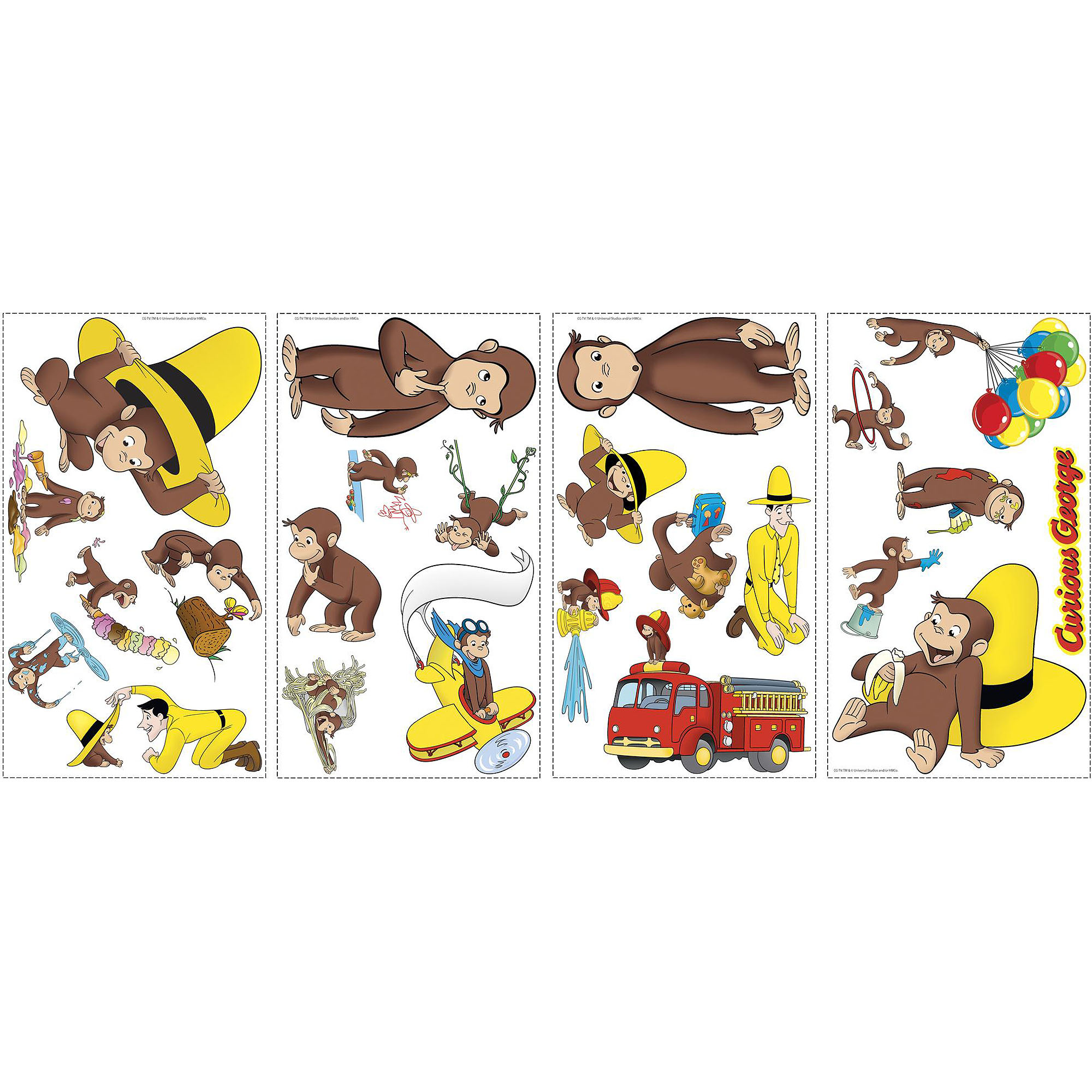 RoomMates Curious George Peel and Stick Wall Decals