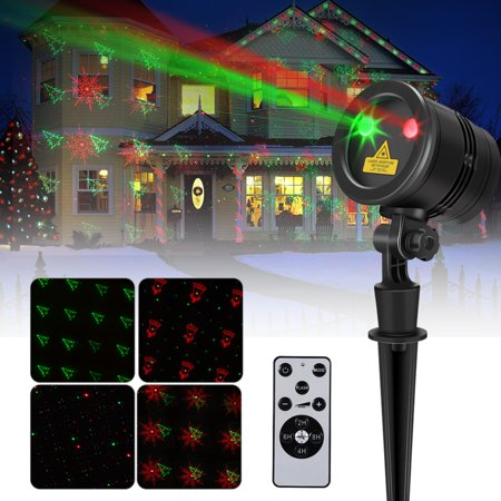 Projector Laser Lights,Waterproof Outdoor Indoor Garden Spotlight Lights with Wireless Remote Control for Party Holiday Wedding Decorations
