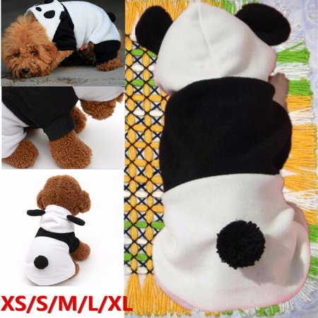 Pet Puppy Dog Coat Clothes Jacket Vest Apparels petsportsclothe Costumes Fleece Panda Hoodie Winter Warm,XS-XL Size