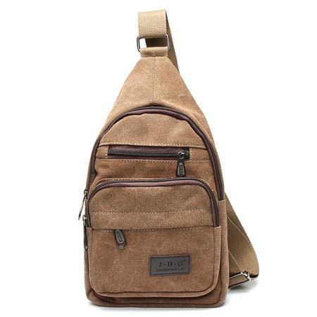 0fda1f97338c 2018 New Men Military Canvas Messenger Shoulder Bag Sling Travel Tactical  Backpack Chest Bag Image 2