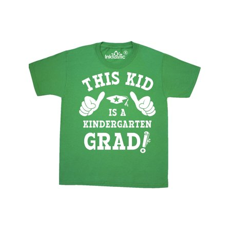 This Kid Kindergarten Grad WHT Youth T-Shirt - Kids Graduation