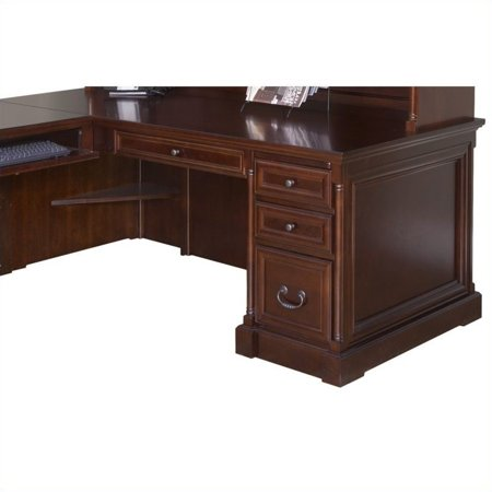 Kathy Ireland Home By Martin Mount View 74 Executive Desk For Left Hand Facing Keyboard