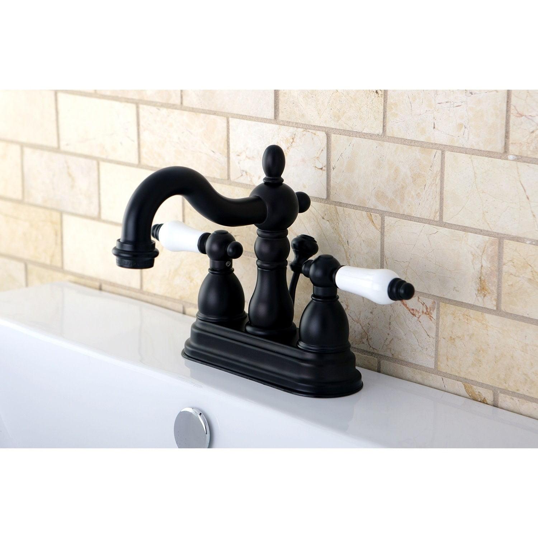 Image of: Kingston Brass Victorian High Spout Oil Rubbed Bronze Bathroom Faucet Walmart Com Walmart Com