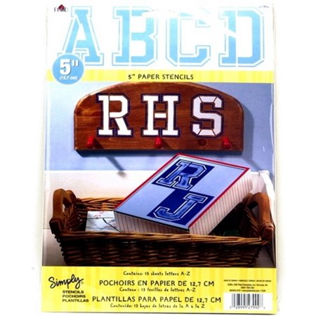 Plaid Letter Stencil Value Pack (5-Inch), 27992 Collegiate Upper Case