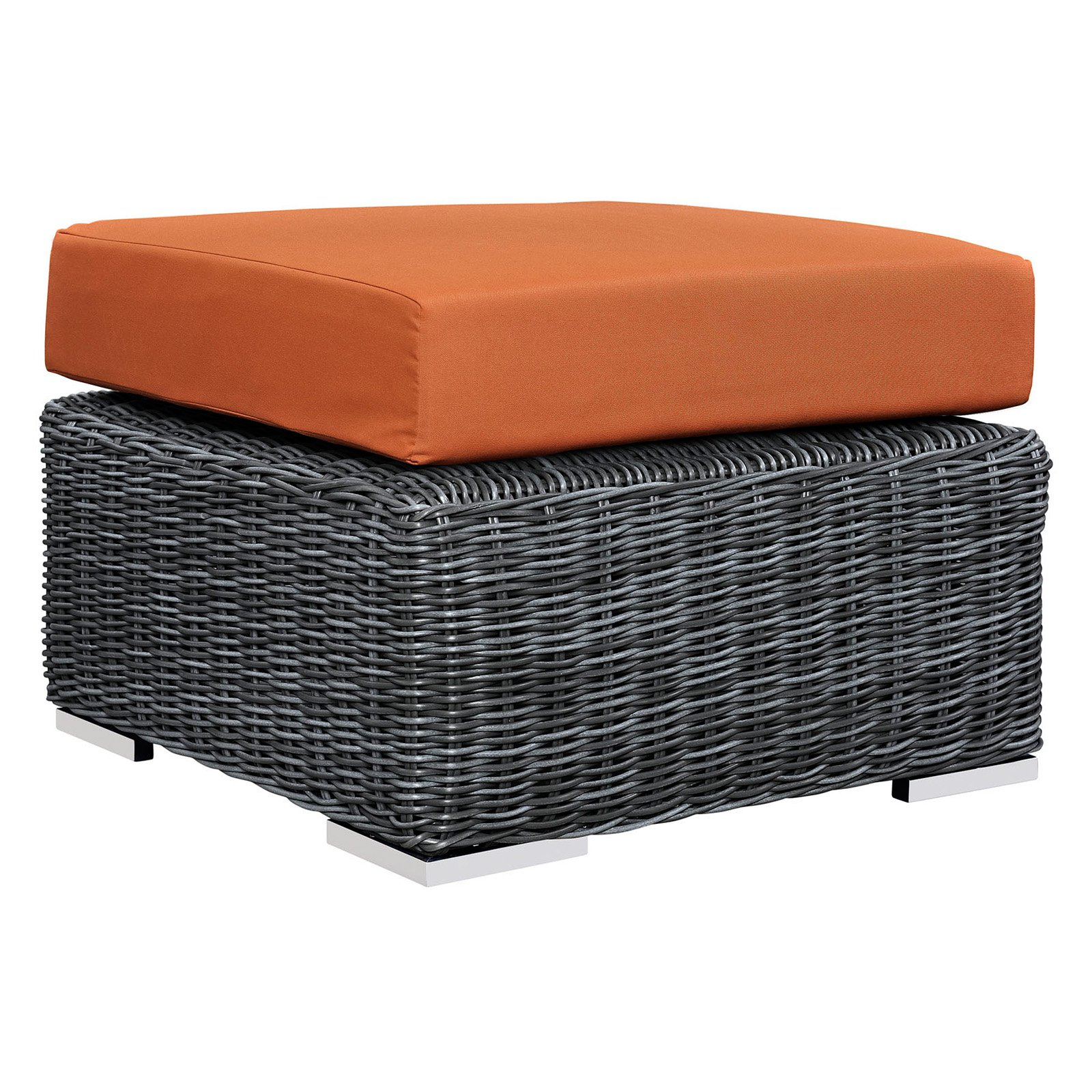 Modway Summon Outdoor Patio Sunbrella Ottoman, Multiple Colors