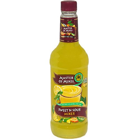 (6 Bottles) Master of Mixes Sweet 'N Sour Mixer, 1 L