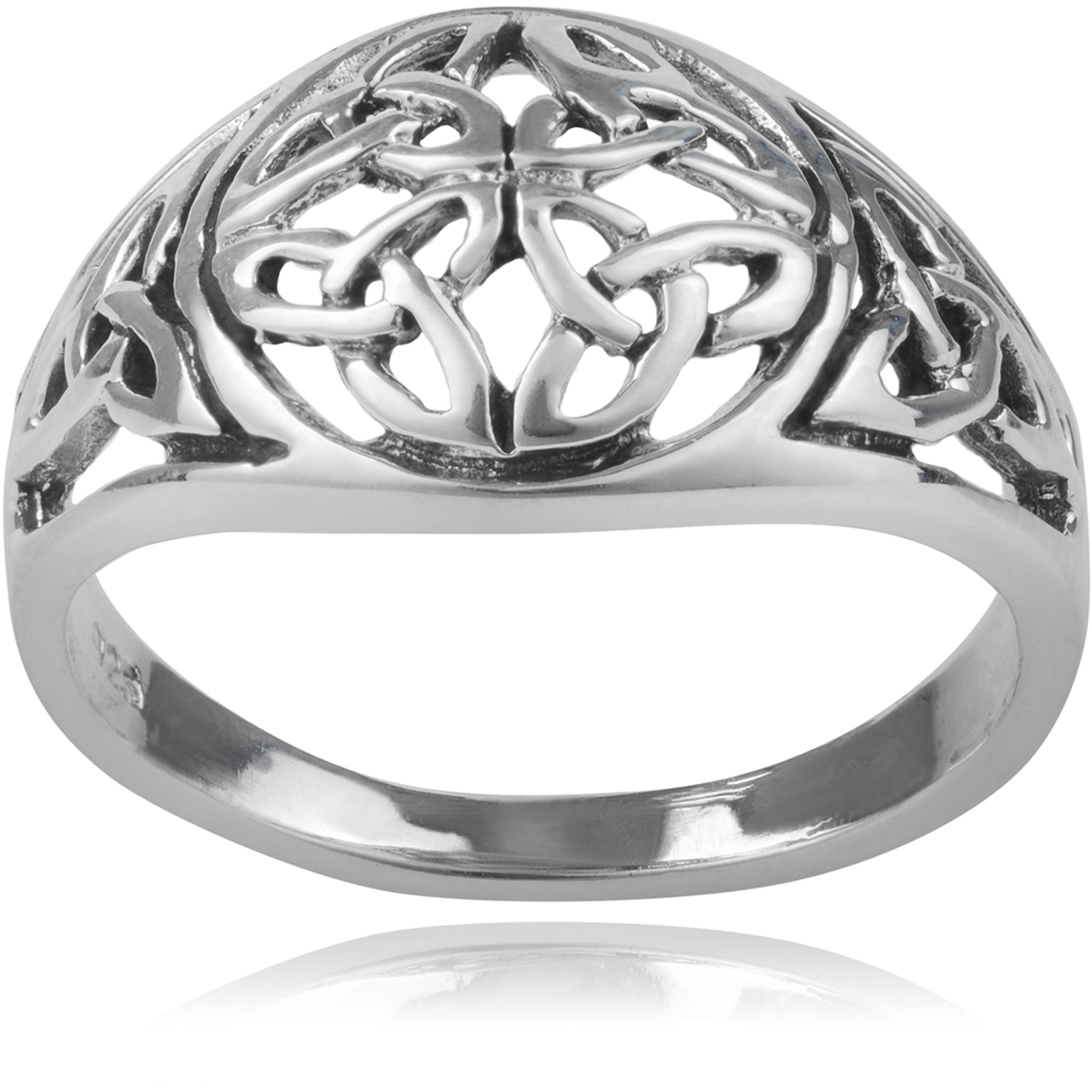 Brinley Co. Women's Sterling Silver Celtic Knot Fashion Ring
