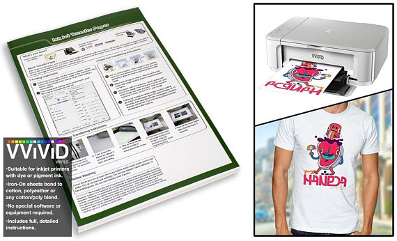 picture about Printable Iron on titled Inkjet Printable Go Paper Iron-Upon 8.5\