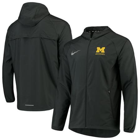 Michigan Wolverines Nike Essential Raglan Full-Zip Jacket - Anthracite