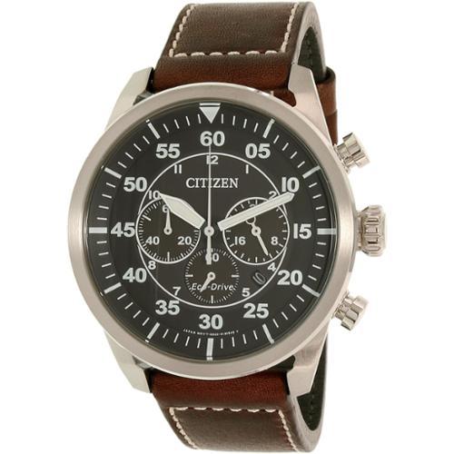 Men's Citizen Eco-Drive Aviator Chronograph Watch CA4210-16E