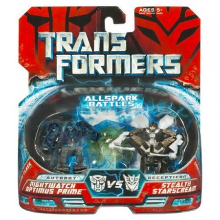 Transformers Mini Allspark Battles 2-Pack Night Watch Optimus Prime Vs. Stealth Starscream, Robot-to-vehicle figures can battle to the finish, with.., By