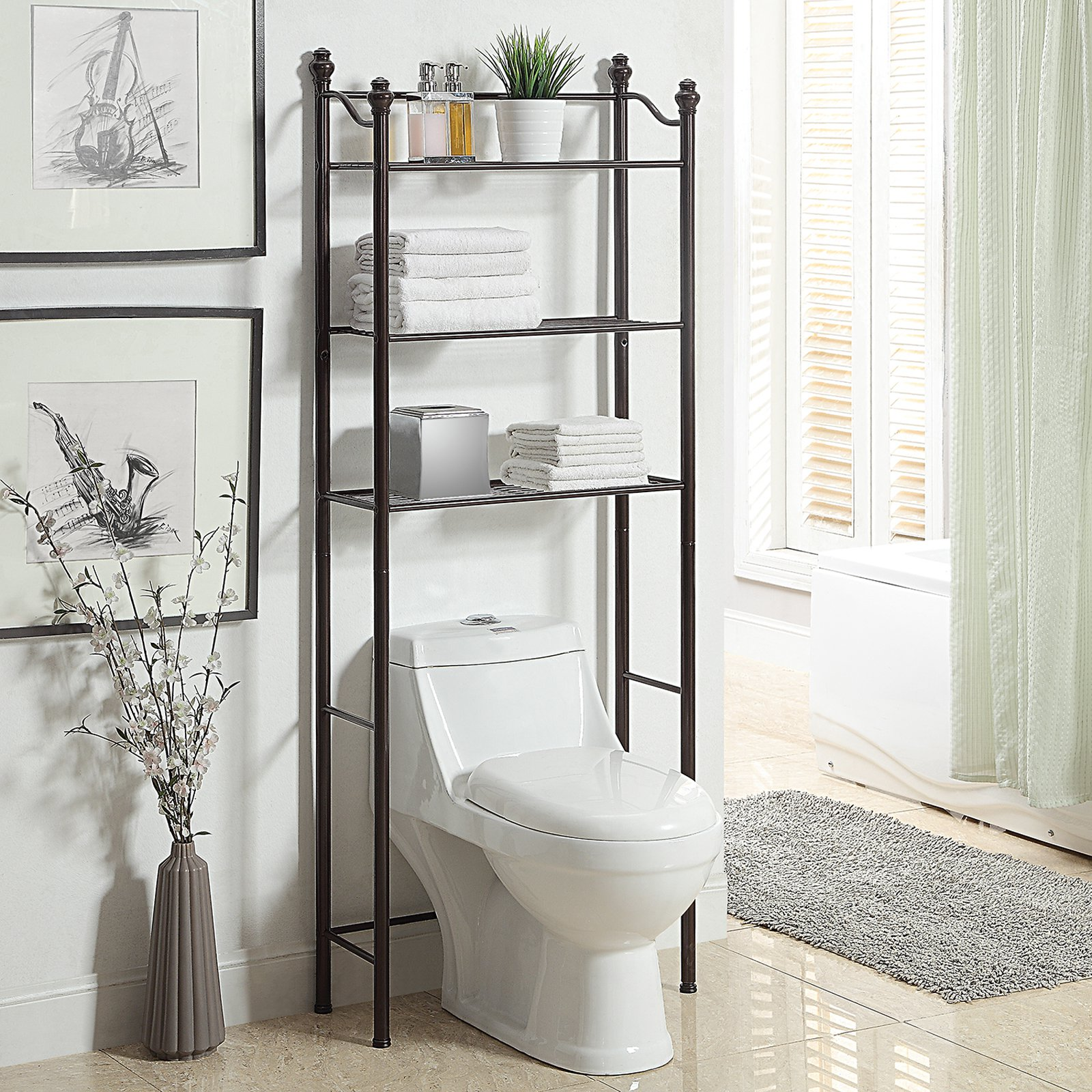 Organize It All Belgium 3-Shelf Over-the-Toilet Bathroom Space Saver