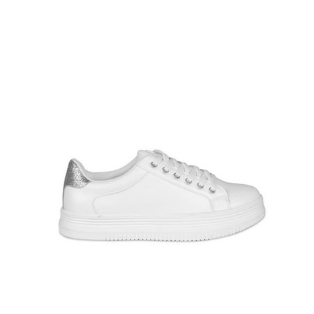 Nature Breeze Lace up Women's Platform Sneakers in White