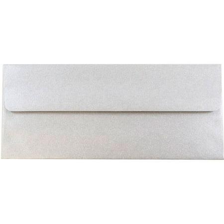 Silver Metallic Envelopes (JAM Paper #10 Business Envelopes - 4 1/8