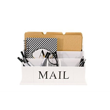 Incredible Blu Monaco Desk Top Mail File Letter Organizer A 3 Tiers White Rustic Country Wooden Desktop A Organize Your Life In Style A Shiby Chic Design Interior Design Ideas Philsoteloinfo