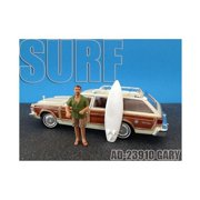 Surfer Gary Figure For 1:24 Diecast Model Cars by American Diorama