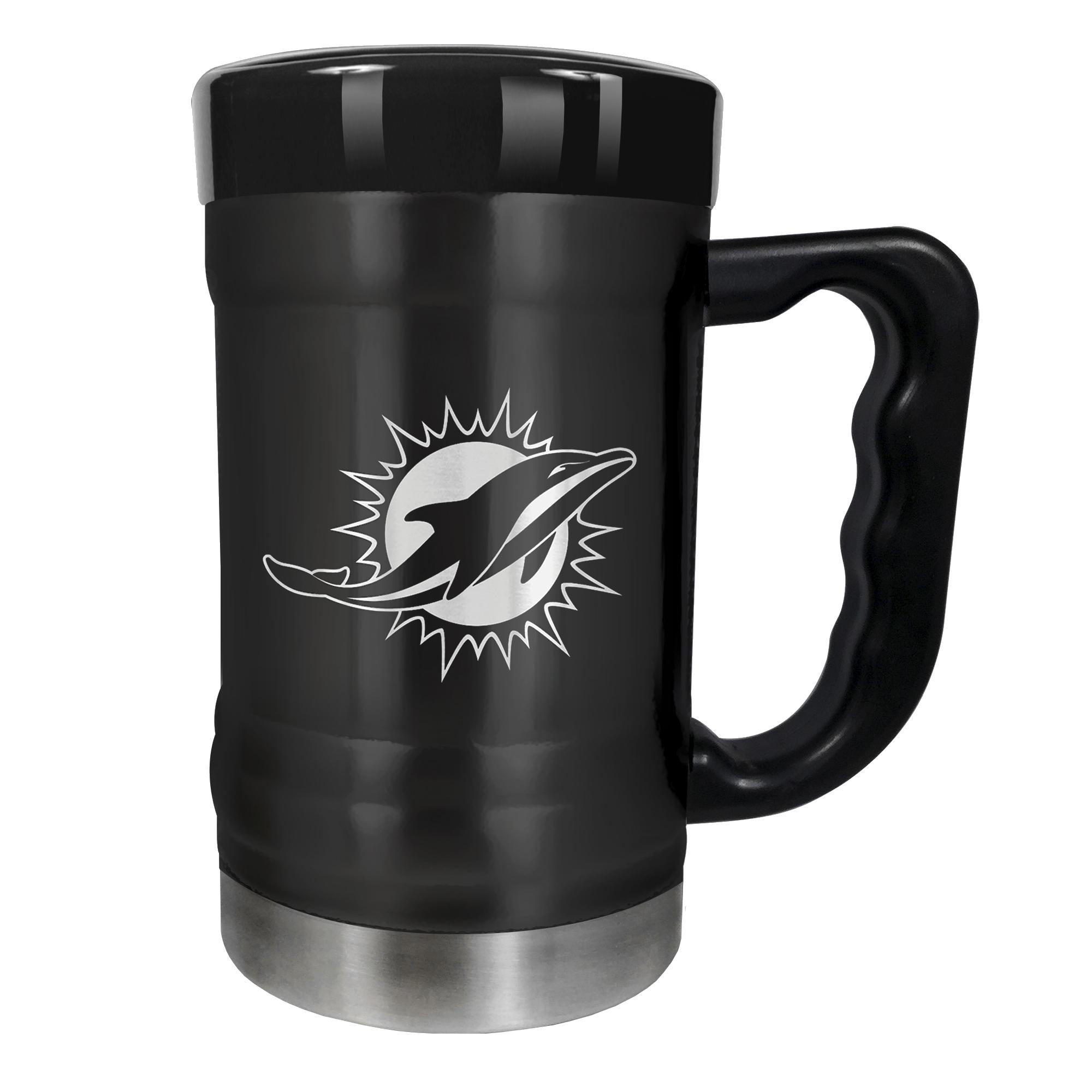 Miami Dolphins 15oz. Stealth Coach Coffee Mug - Black - No Size