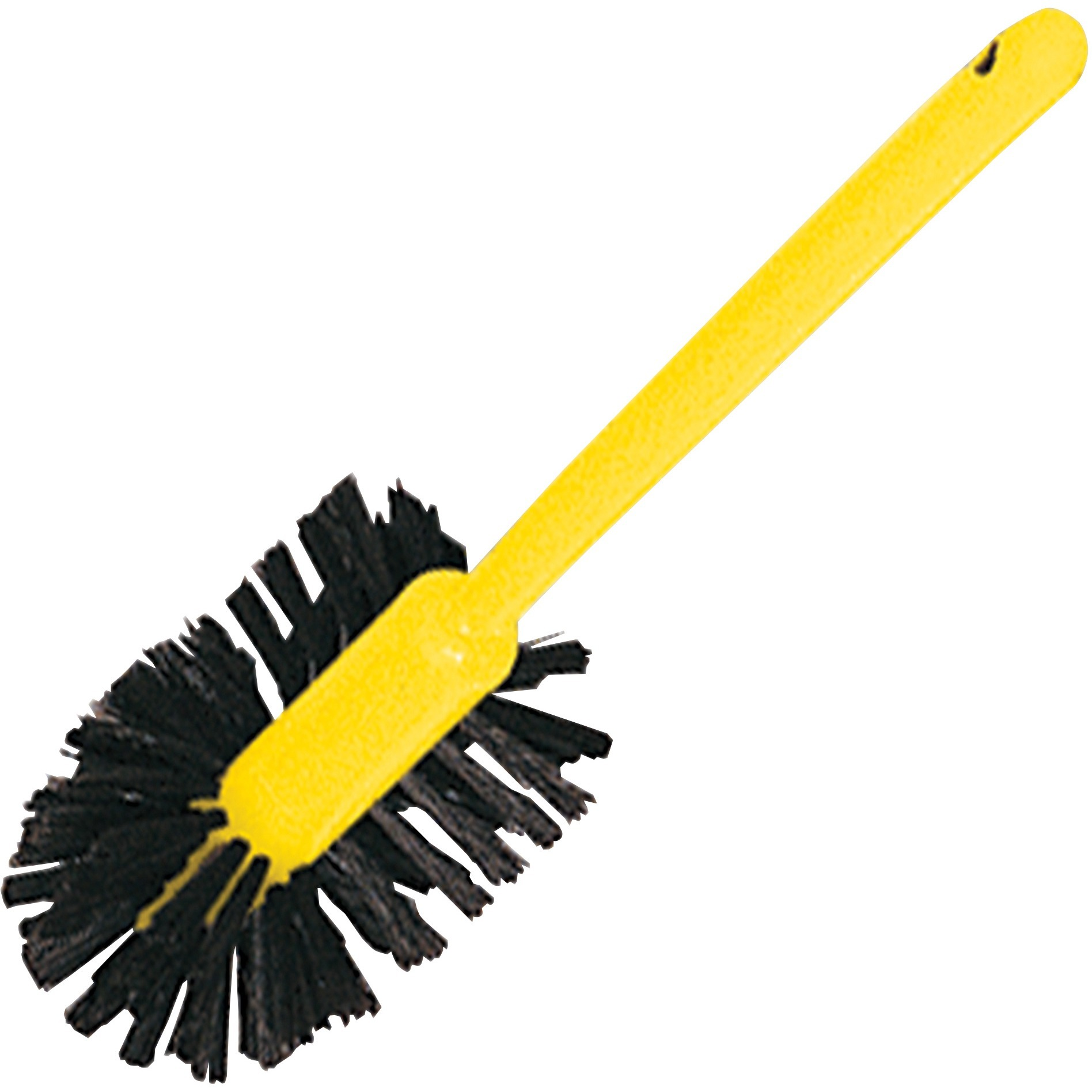 """Rubbermaid Commercial, RCP632000BRNCT, 17"""" Handle Toilet Bowl Brush, 12 / Carton, Brown,Yellow"""