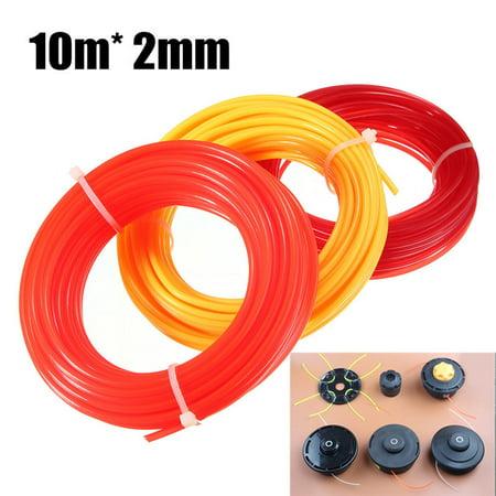 Nylon Cord Wire Round String Grass Trimmer 10m x 2mm Strimmer Line Strimmer Accessories Brushcutter Fit For Lightweight Petrol