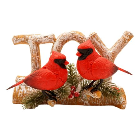 Singing Cardinals on Branch Decoration (Joy) Measures 10 x 6 x 4.5 in, Holiday Wish You A Merry Christmas Ornaments ()