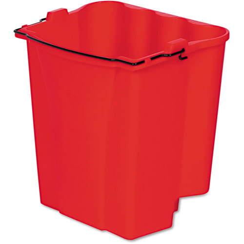 Rubbermaid Commercial Red Dirty Water Bucket For Wavebrake Bucket/Wringer, 18 qt