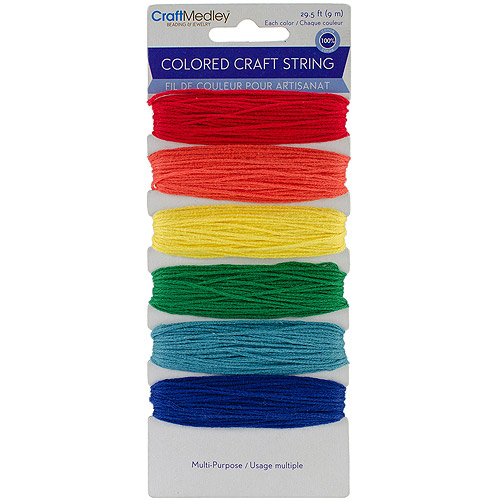 Multi-Purpose Colored Craft String, 29-1/2', Brights
