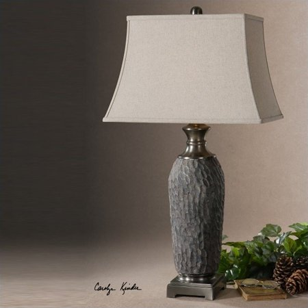 Uttermost Tricarico Textured Ceramic Lamp in Old Stone Bronze - image 2 de 2