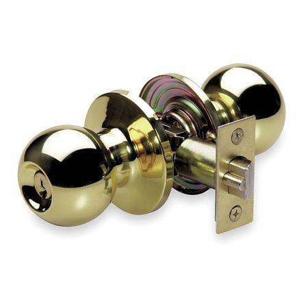 Master Lock BAO0103 Mechanical Knob Lockset, Entrance ()
