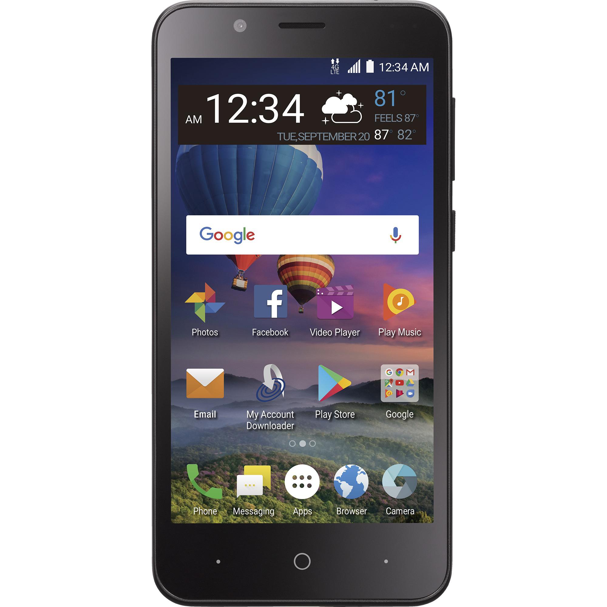 Straight Talk ZTE ZFive C Prepaid LTE Smartphone