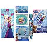 Disco Items (Frozen Anna Elsa Beach towel goggles swim raft Flying disc water blaster beach ball bundle of 6 Items for)