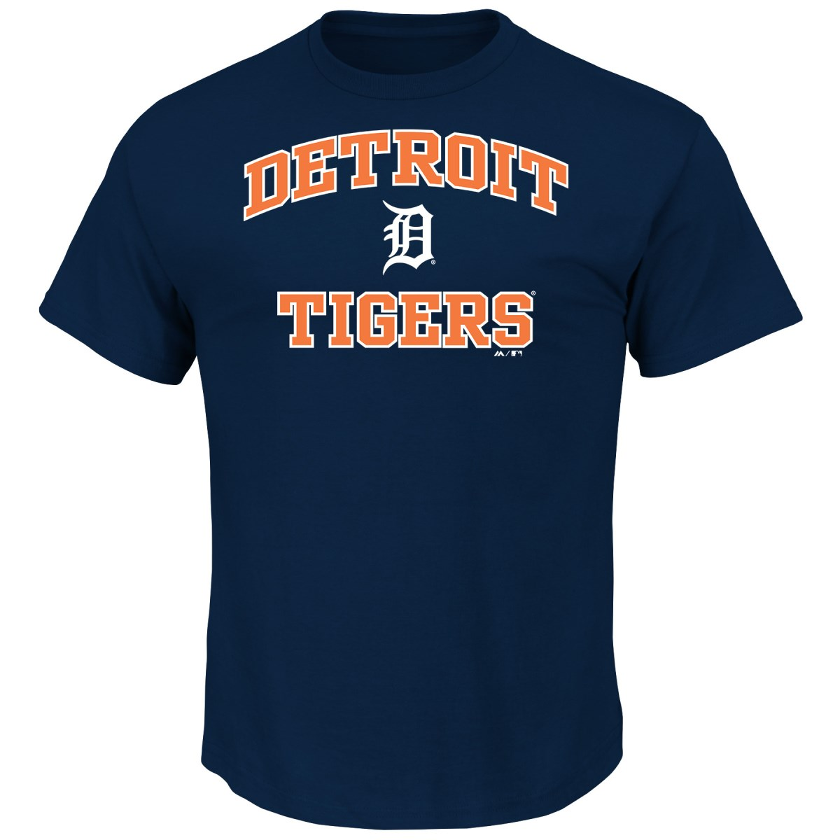 "Detroit Tigers Majestic MLB ""Heart & Soul"" Men's Short Sleeve T-Shirt"