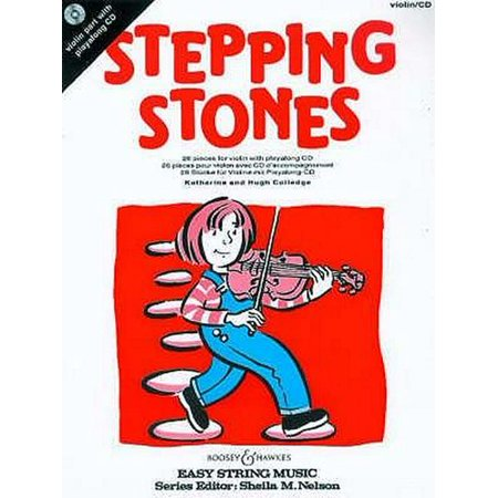 Stepping Stones for Violin: 26 Pieces for Beginners (Easy String Music + CD) (Paperback)