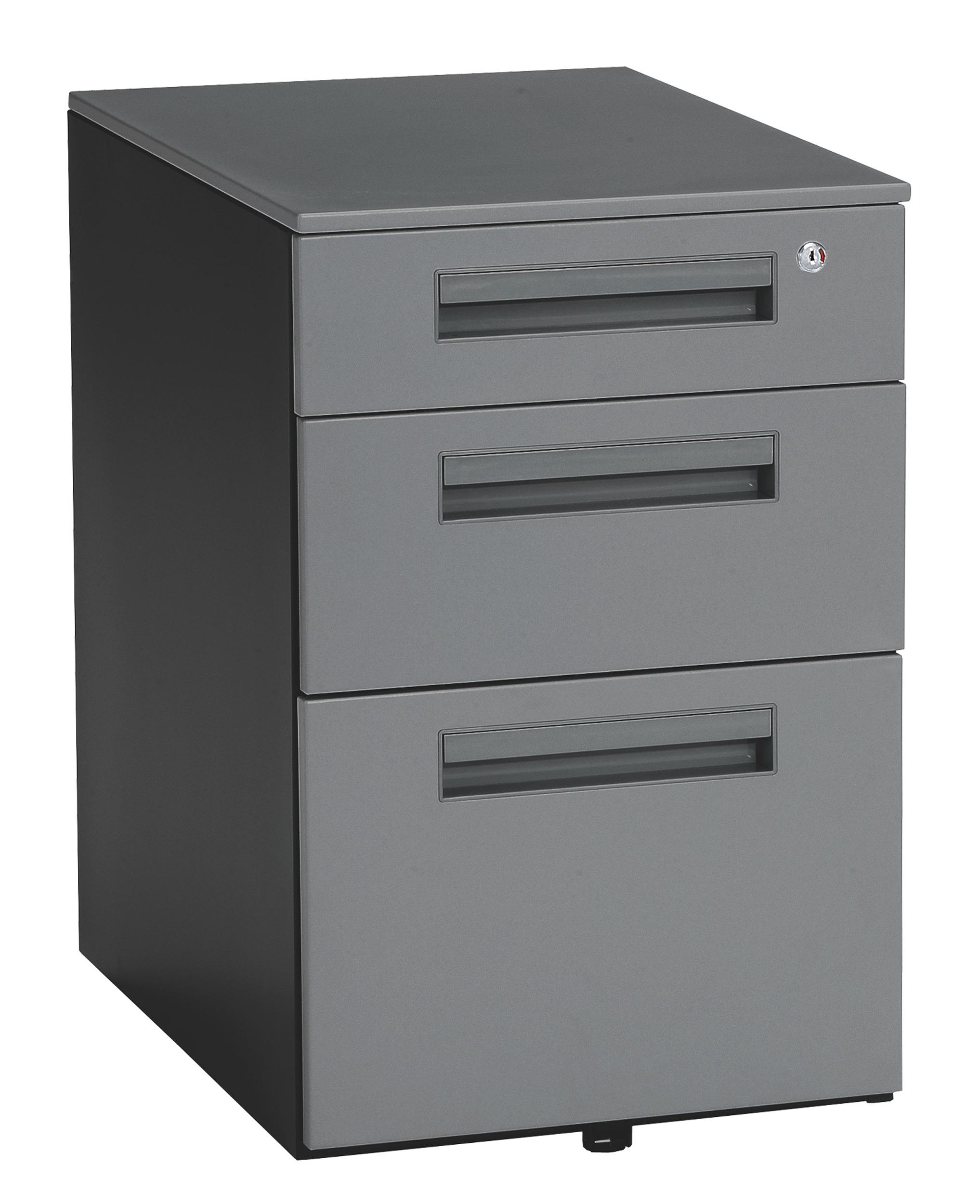 Charmant OFM Mesa Series Model 66300 Wheeled Mobile 3 Drawer Steel File Cabinet, Gray