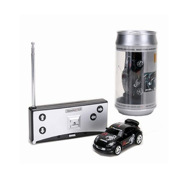 Black Color Coke Can Mini RC Radio Remote Control Micro Racing Car 27MHZ