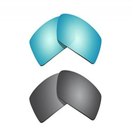 c8c250f11c BVANQ - 2 Pairs Polarized Replacement Lenses Titanium   Blue for ...