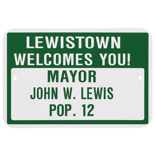 Personalized Hometown Sign