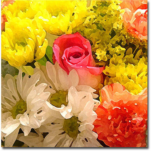 "Trademark Fine Art ""Spring Bouquet"" Canvas Wall Art by Amy Vangsgard"