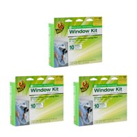"SAVE 10% on Duck Indoor Window Insulation Kit. Insulates 10 Windows Each, 62"" x 420"" Film. 3PACK"