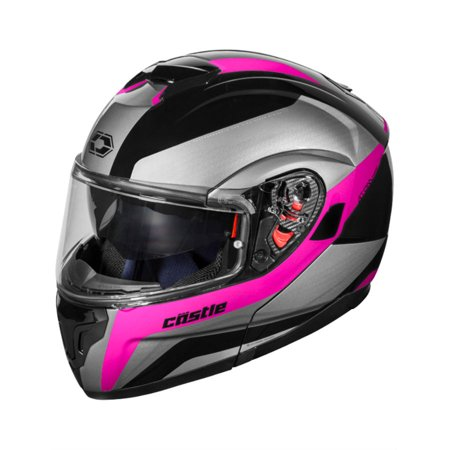 Castle Atom SV Tarmac Modular Helmet Pink Rubber Sm Helmet