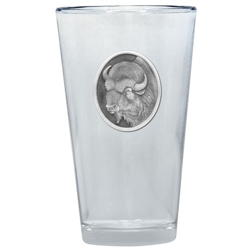 Buffalo Oval Emblem Pint Glass by