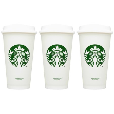 Starbucks Reusable Cup To Go Travel Coffee Tea Tumbler 16 Oz (Pack of